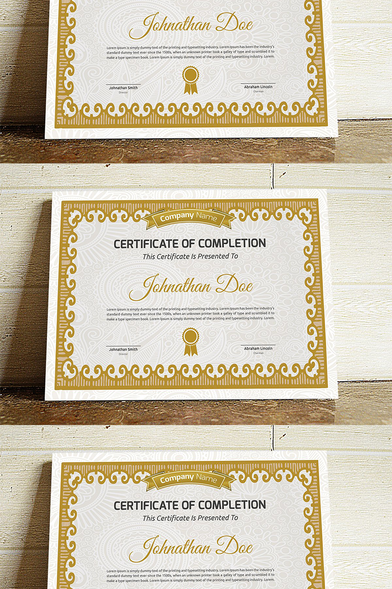 Decorative Certificate Template