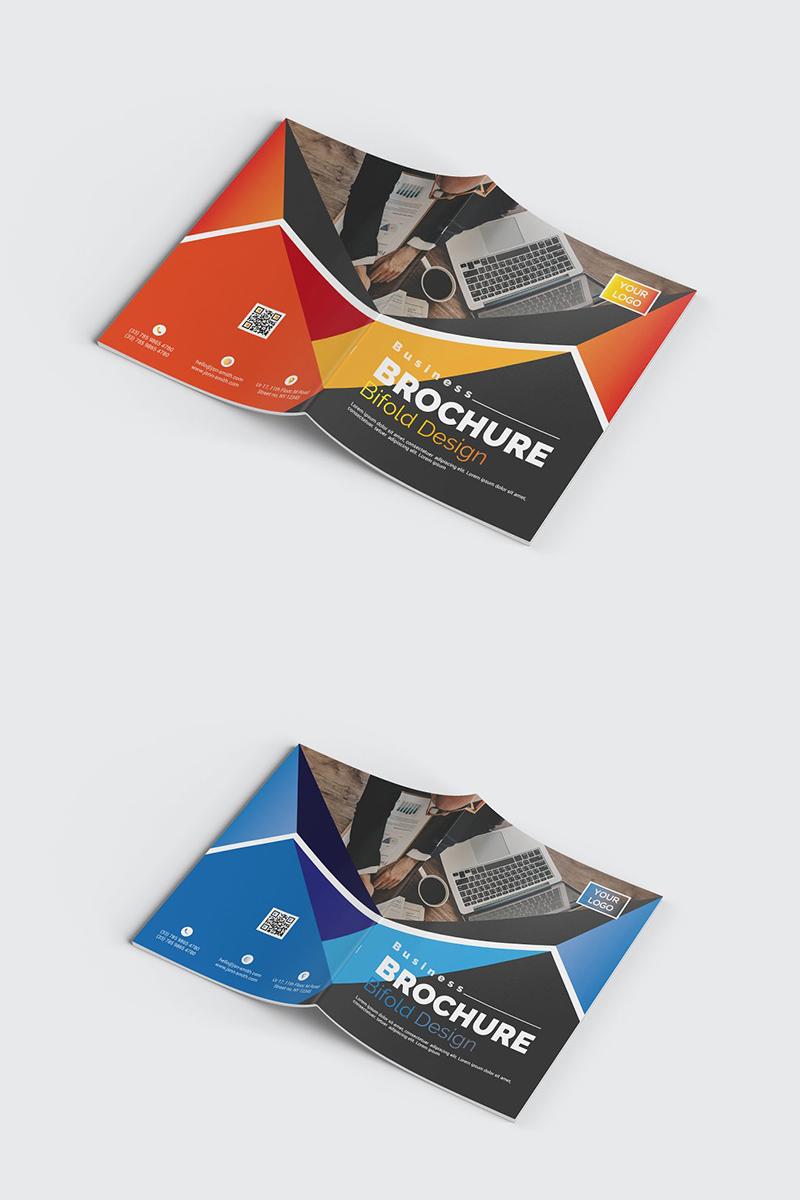 Geometric Bifold Brochure Corporate Identity Template