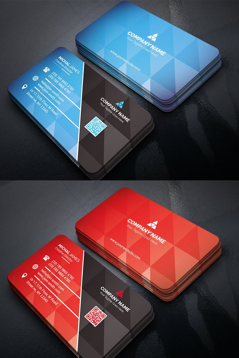 Geometric Business Card Corporate Identity Template