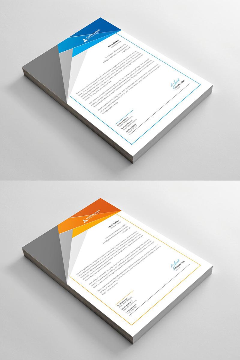 Geometric Letterhead Corporate Identity Template