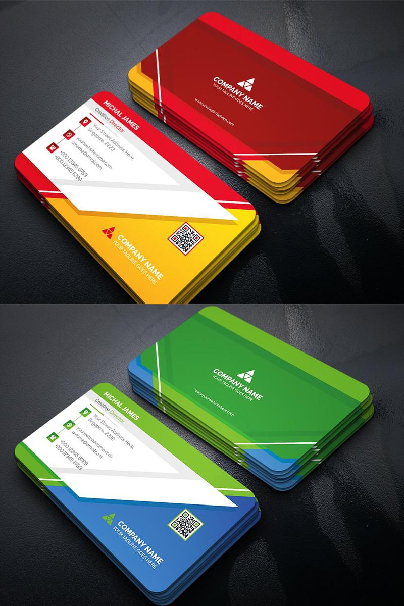 Modern Geometric Business Card Corporate Identity Template