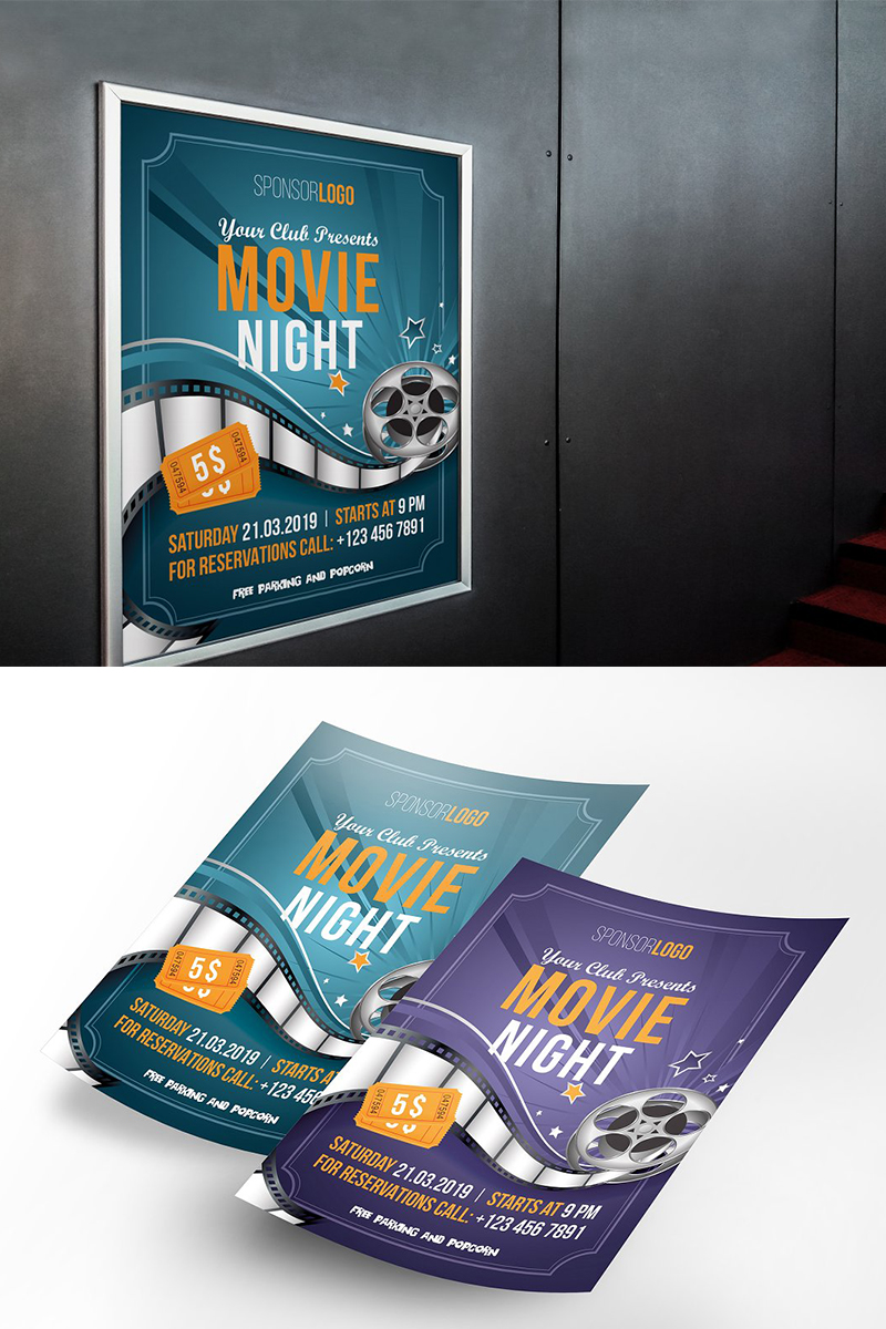 """Movie Flyer Poster"" Bedrijfsidentiteit template №96326"