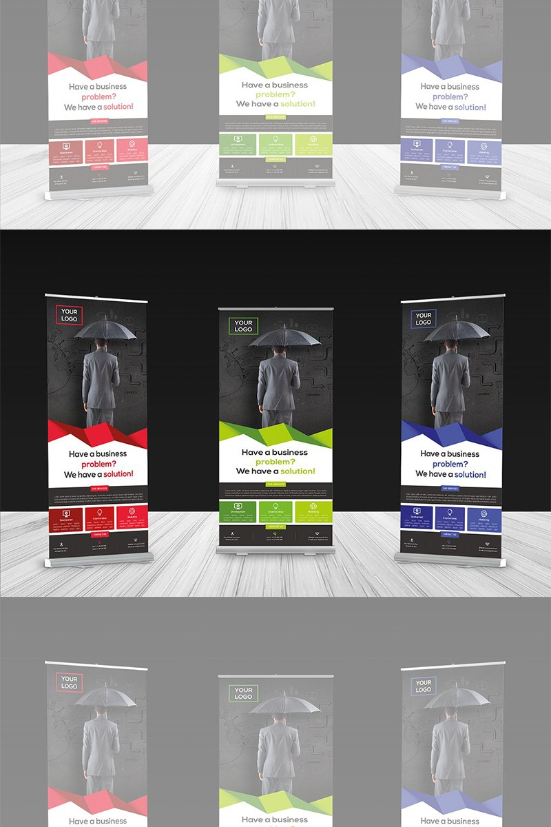 Roll-up Banner Corporate Identity Template