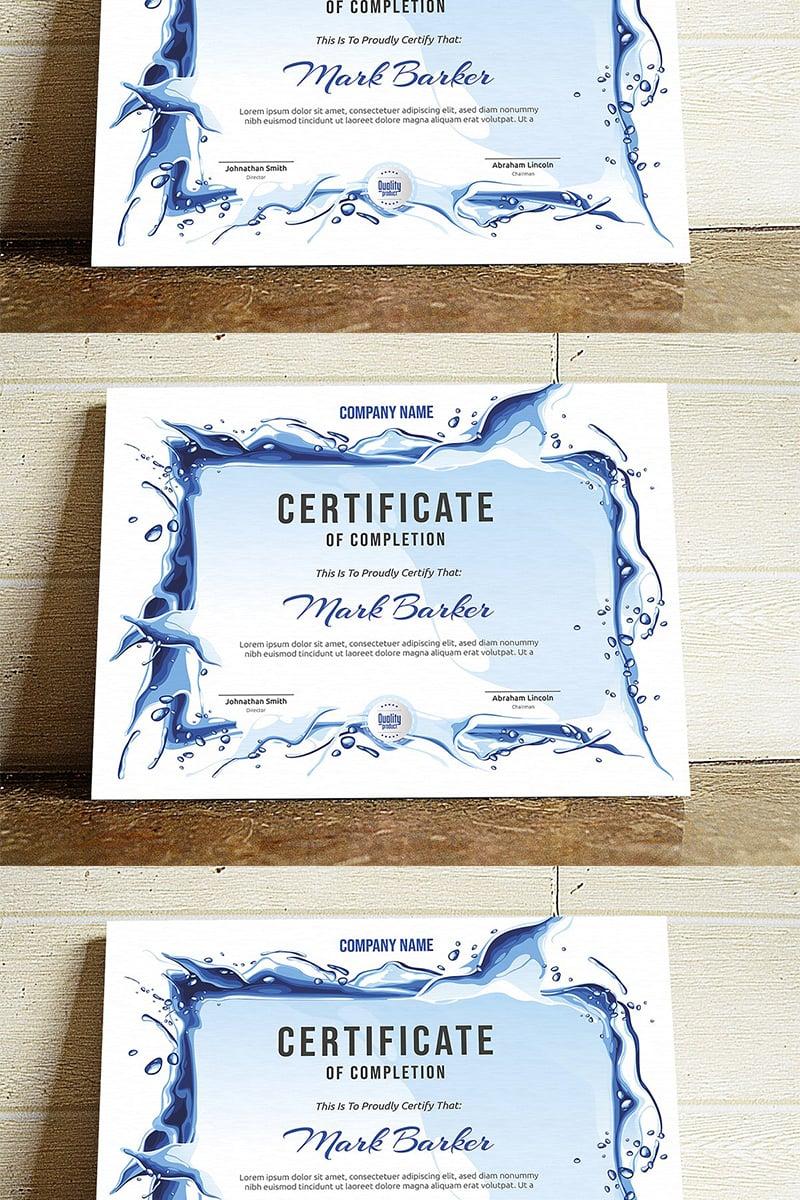 Splash Certificate Template