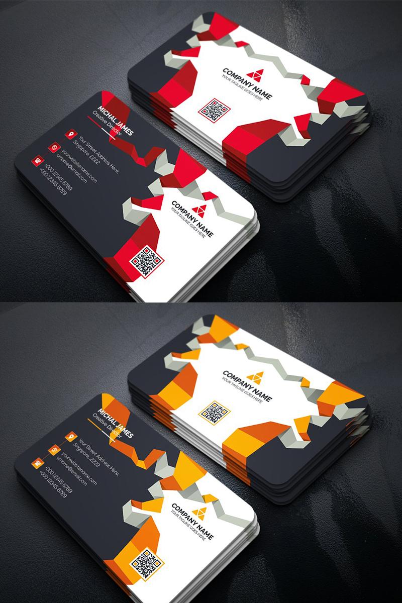 Szablon tożsamości korporacyjnej Abstract Business Card #96324