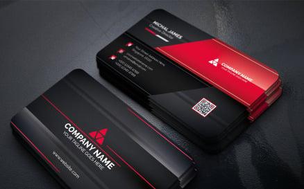 Modern Dark Business Card Corporate Identity