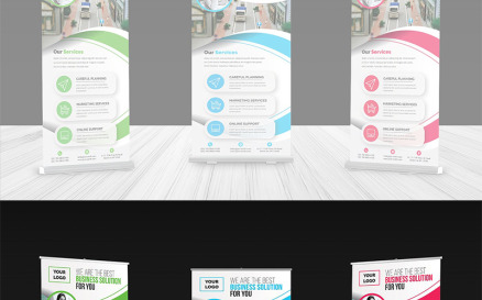 Curvy Roll-up Banner Corporate Identity