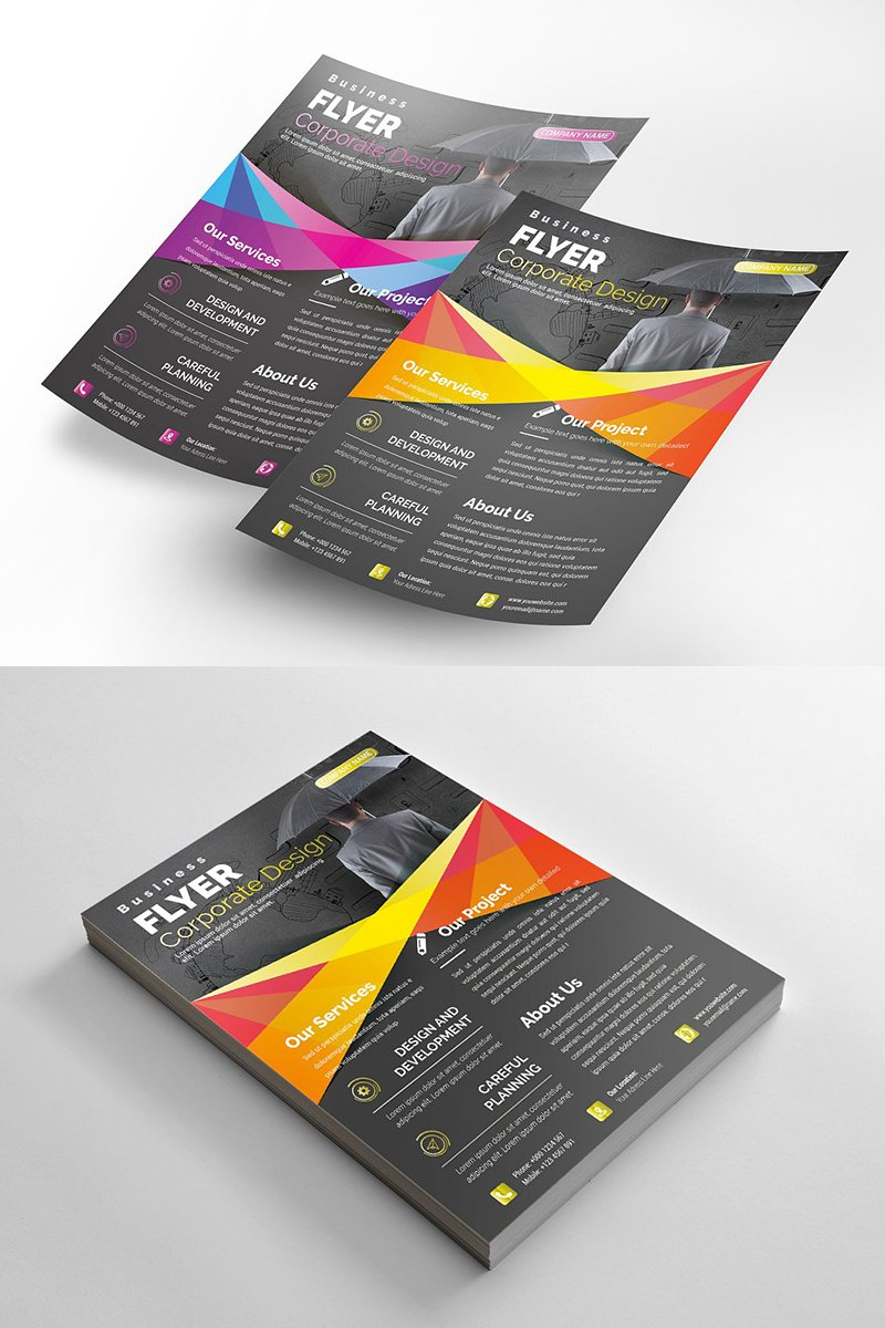 Abstract Flyer Corporate Identity Template