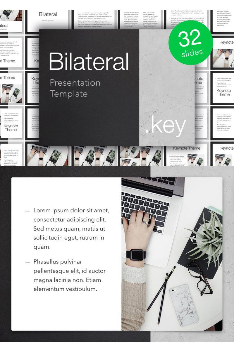 """Bilateral"" Keynote Template №96454"