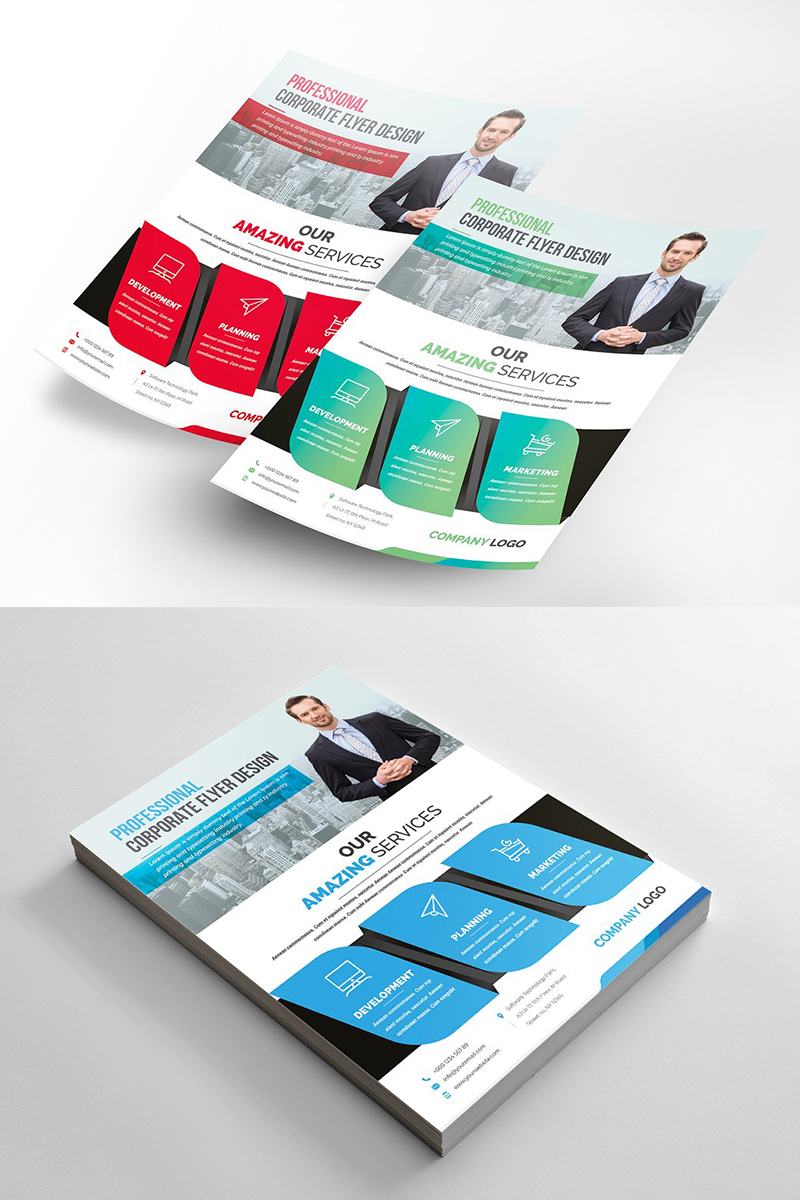 Clean Modern Flyer Corporate Identity Template
