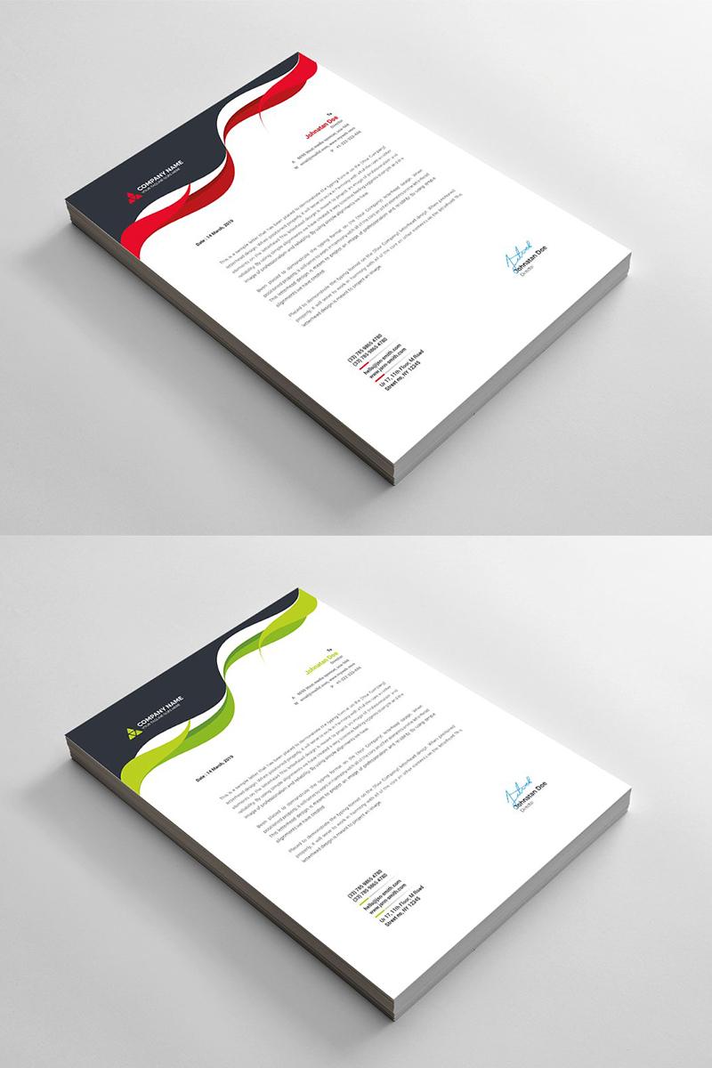 Curvy Modern Letterhead Corporate Identity Template