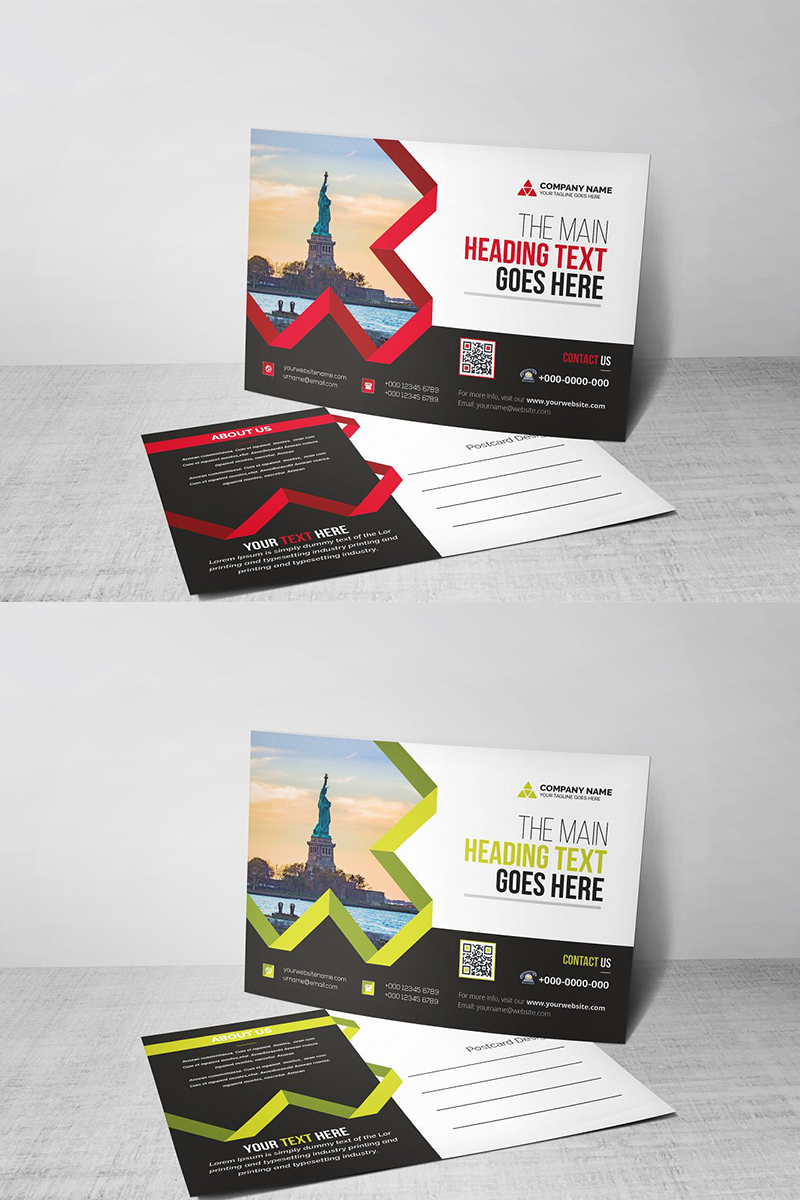 Modern Postcard Corporate Identity Template
