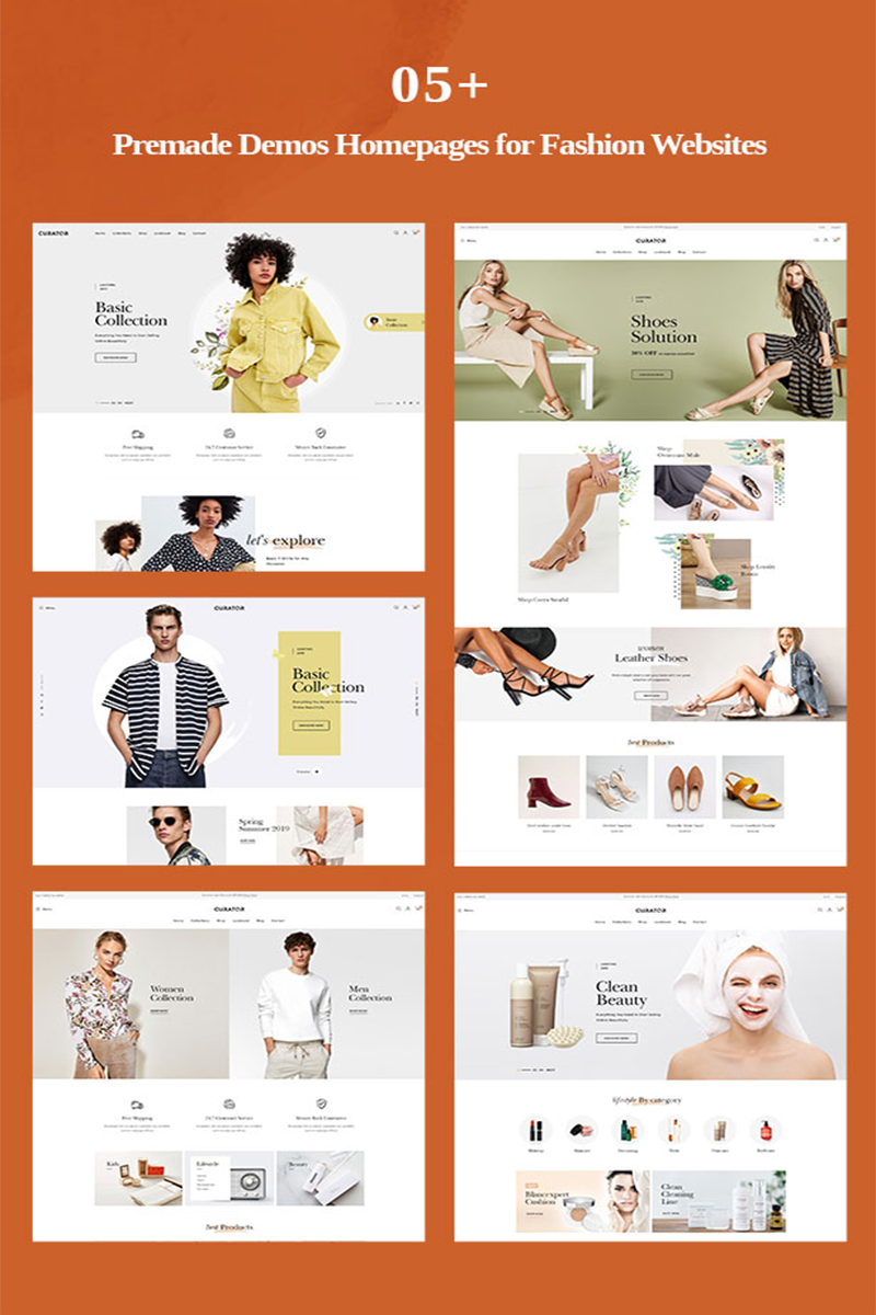 "PrestaShop Theme namens ""TMCurator Fashion store"" #96419"