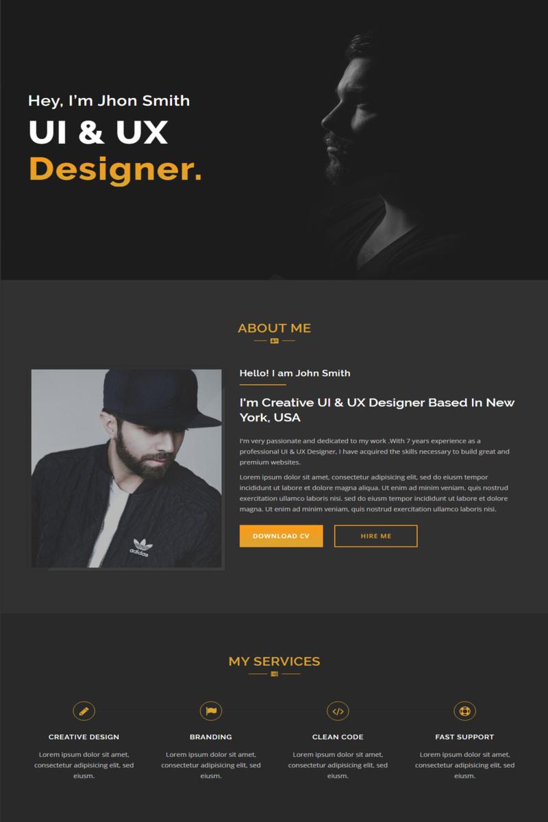Responsivt Hayir - Responsive Personal Portfolio Landing Page-mall #96420