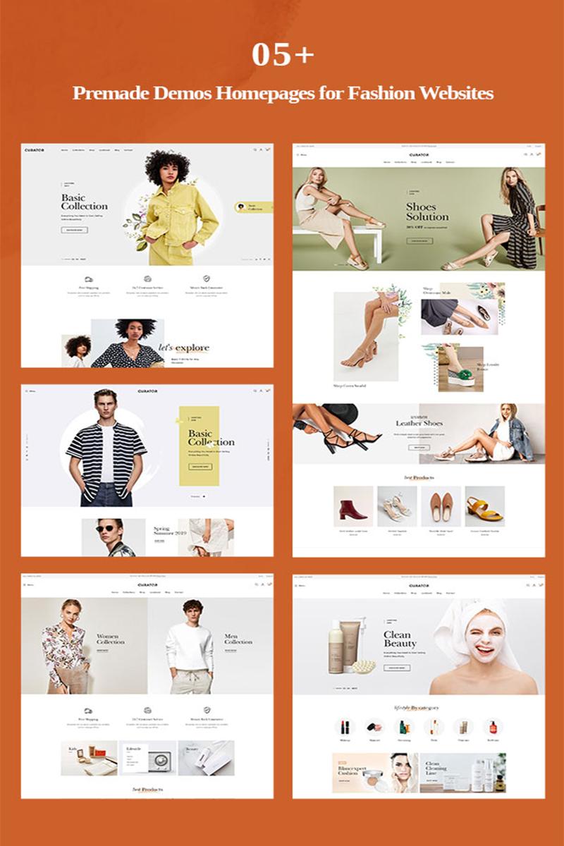 """TMCurator Fashion store"" PrestaShop模板 #96419"
