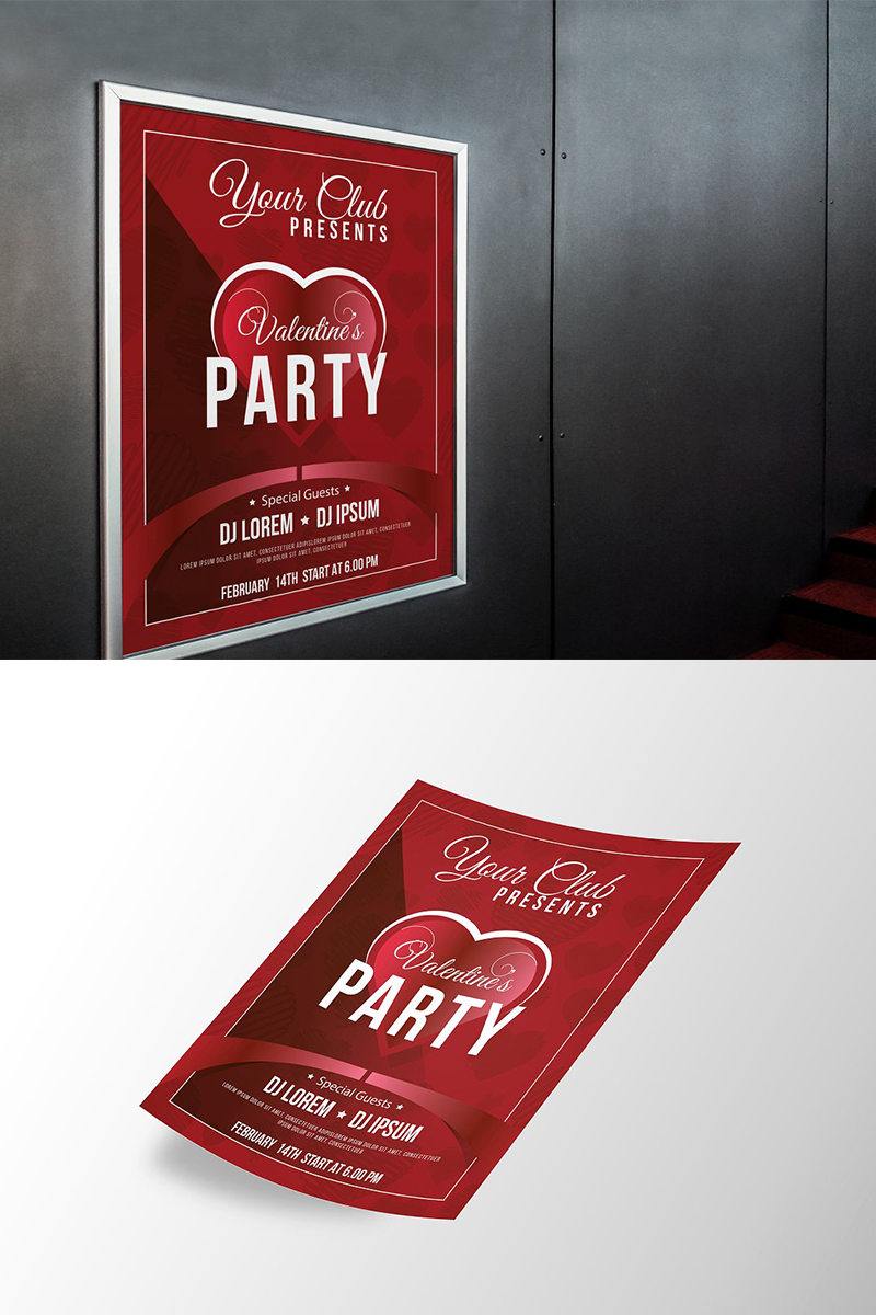 Valentines Day Flyer Corporate Identity Template