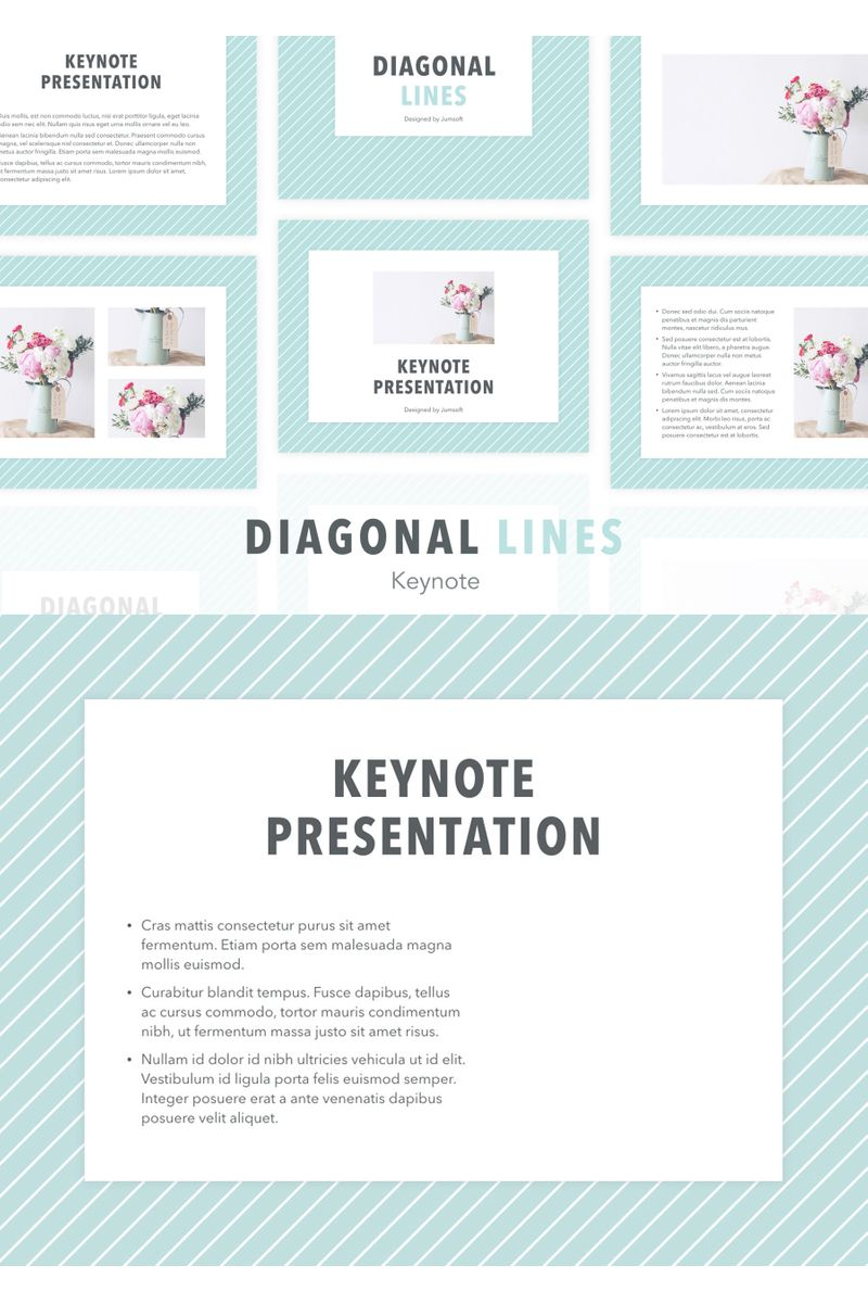 Diagonal Lines Keynote Template