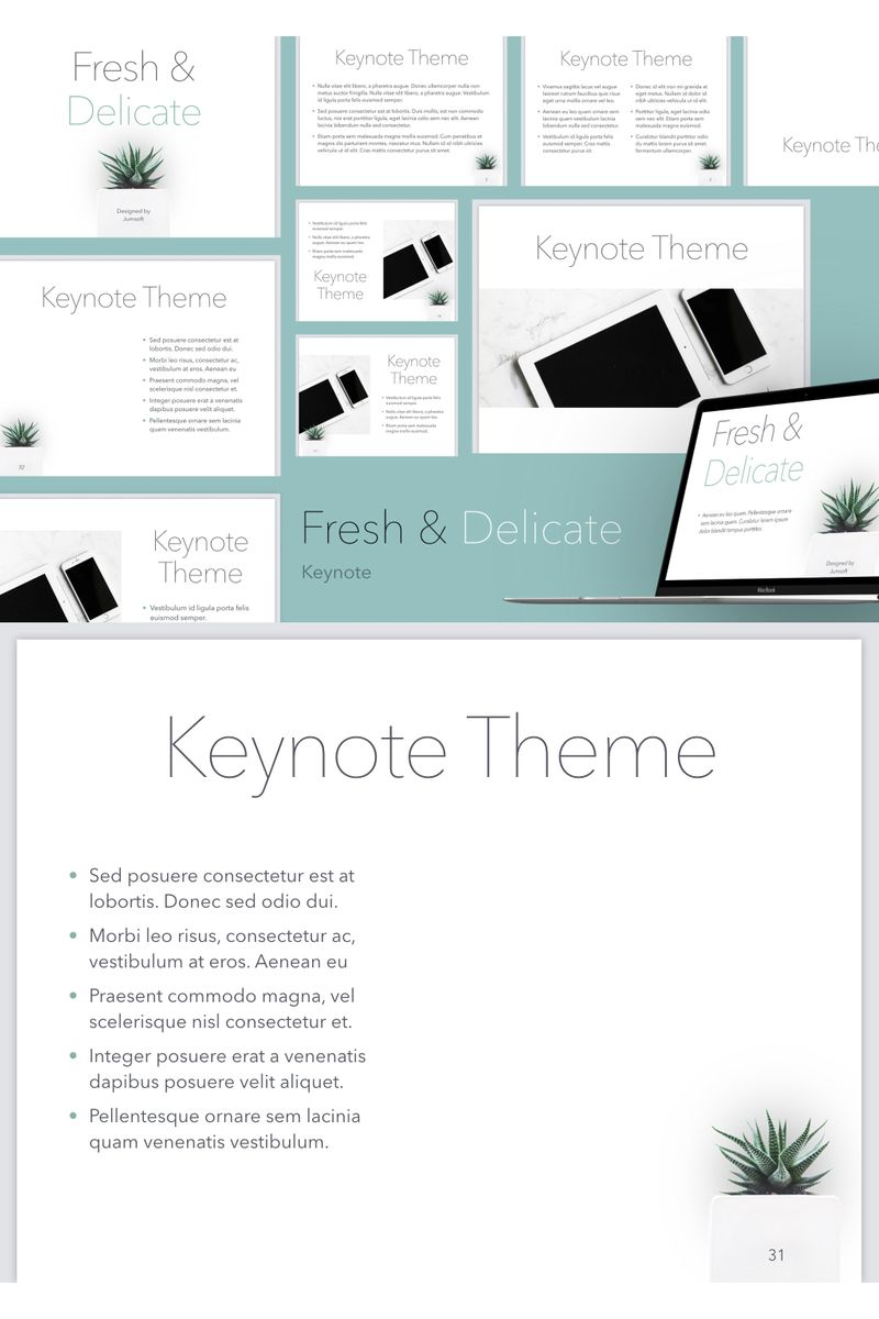 Fresh & Delicate Keynote Template