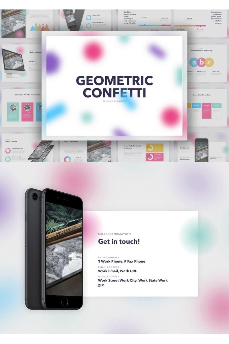 Geometric Confetti Keynote Template