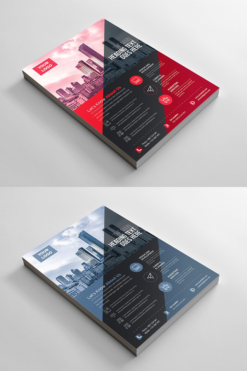 Modern Geometric Flyer Corporate Identity Template