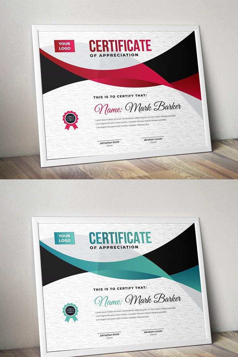 """Plantilla De Certificado """"Curvy Modern"""" #96501"""