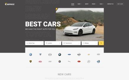 Carprice - Automobile Dealership Website Template