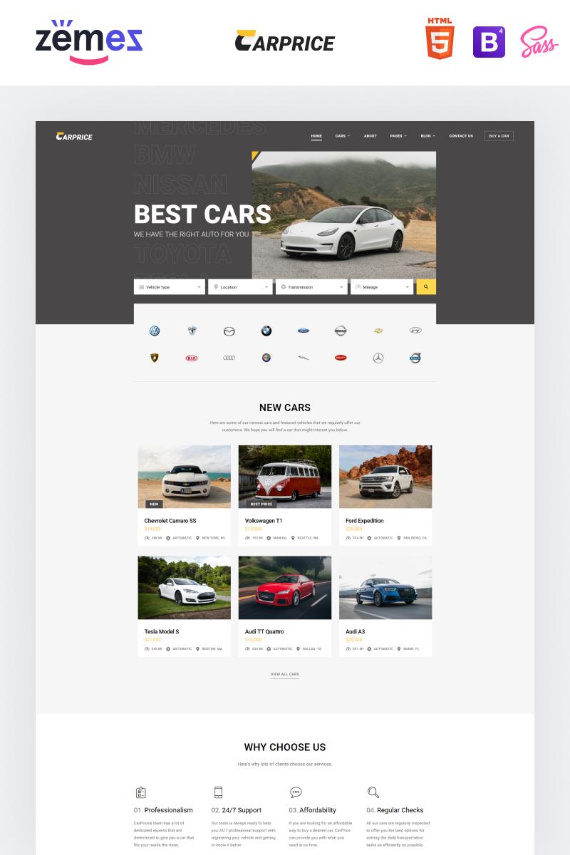 """""""Carprice - Automobile Dealership"""" 响应式网页模板 #96737"""