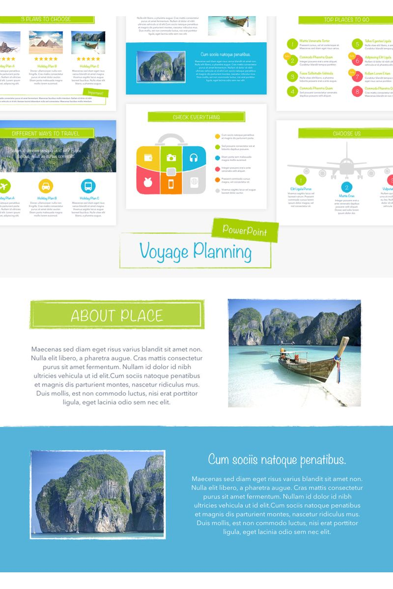"""Template PowerPoint #96727 """"Voyage"""""""
