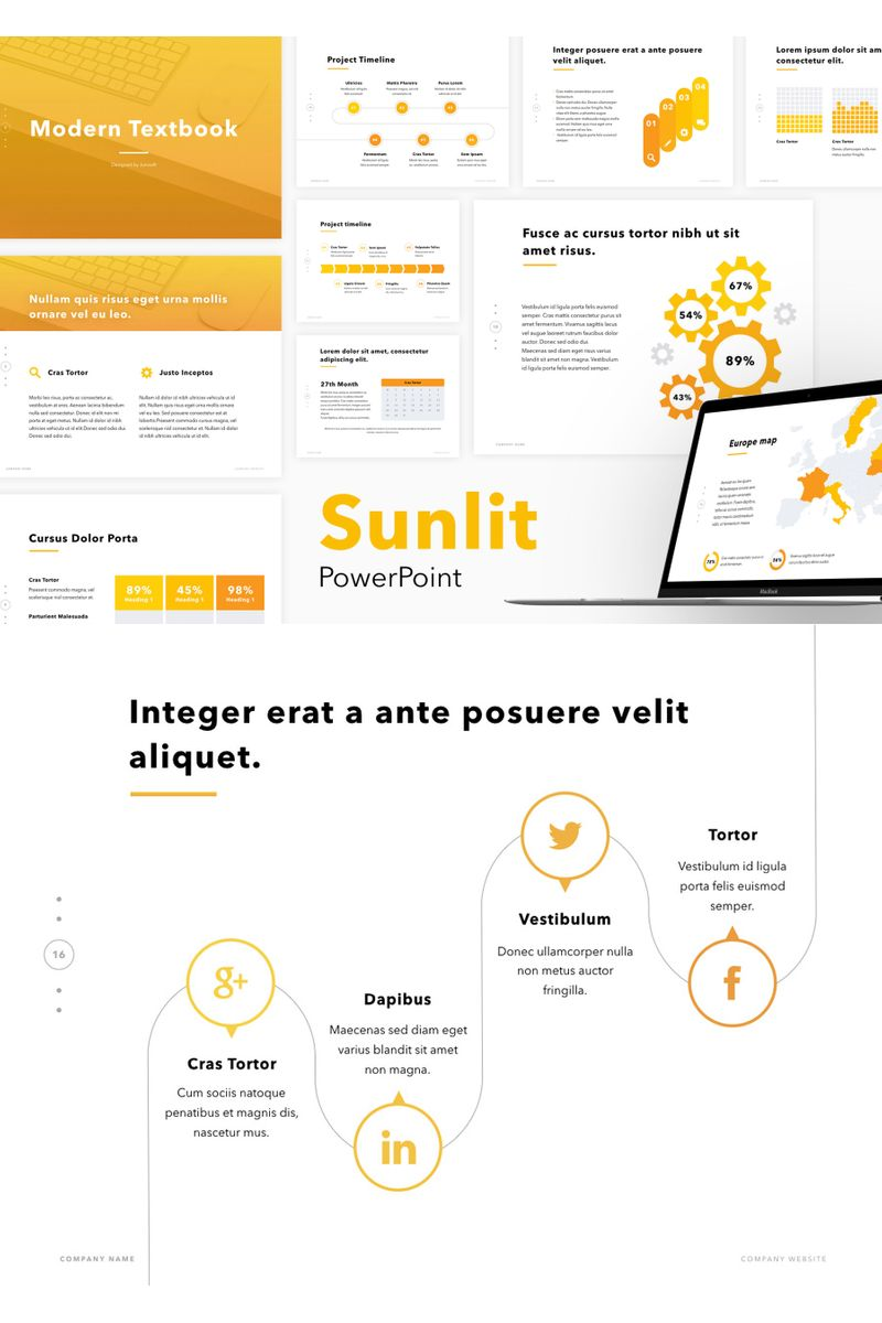 "Template PowerPoint #96733 ""Sunlit"""