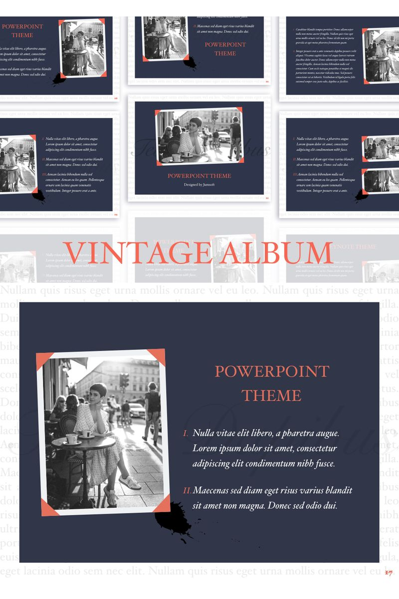 Vintage Album PowerPointmall #96725