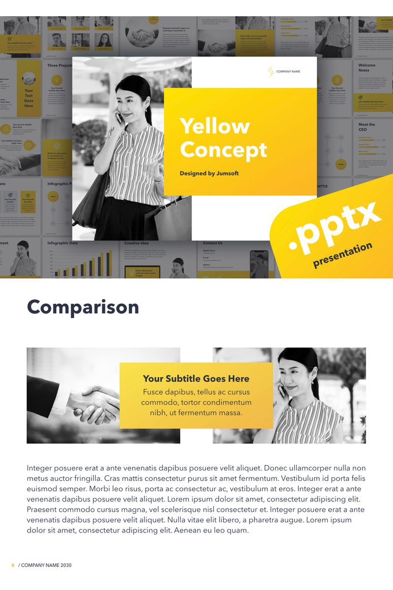 Yellow Concept PowerPointmall #96728