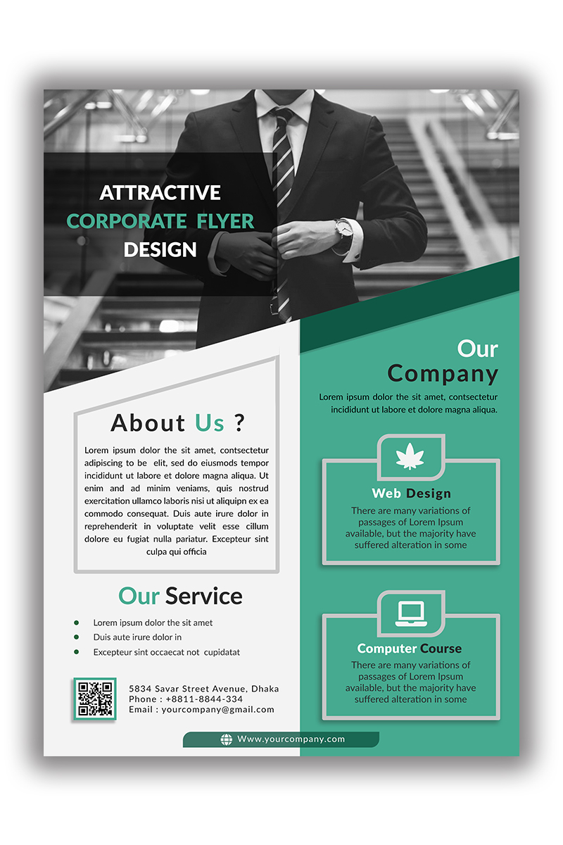 Attractive Flyer Design Márkastílus sablon 96832
