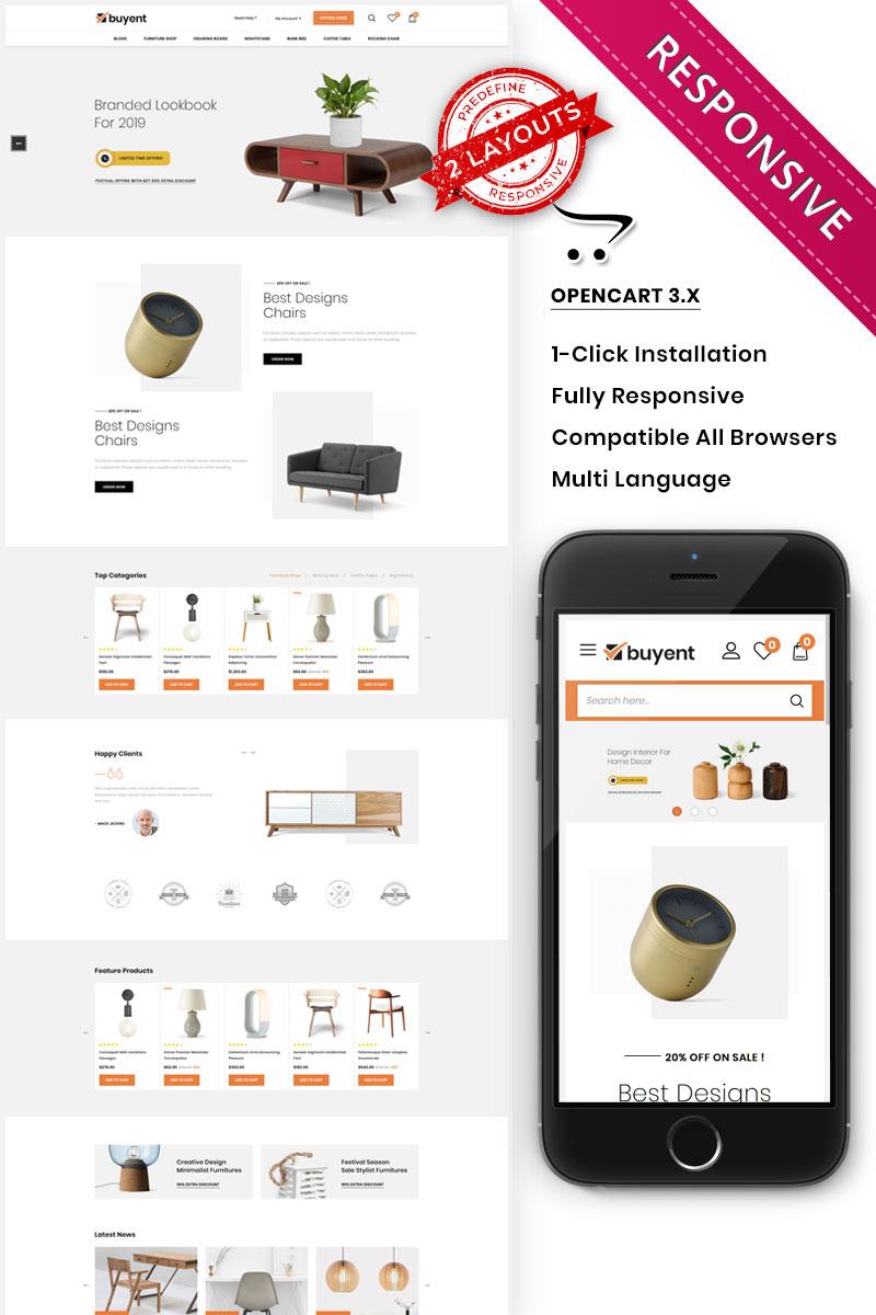 """Buyent - The Multipurpose"" 响应式OpenCart模板 #96818"