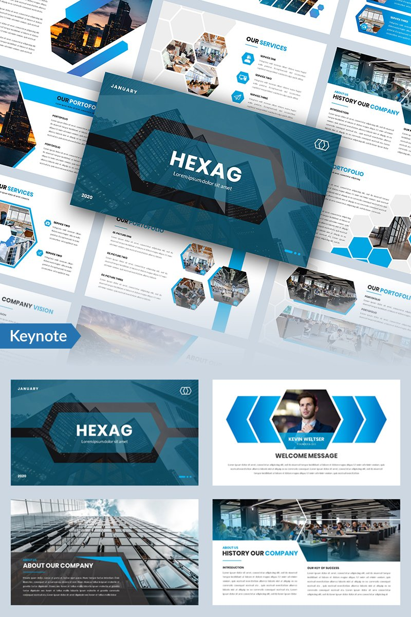 Hexag - Bussines Keynote Template