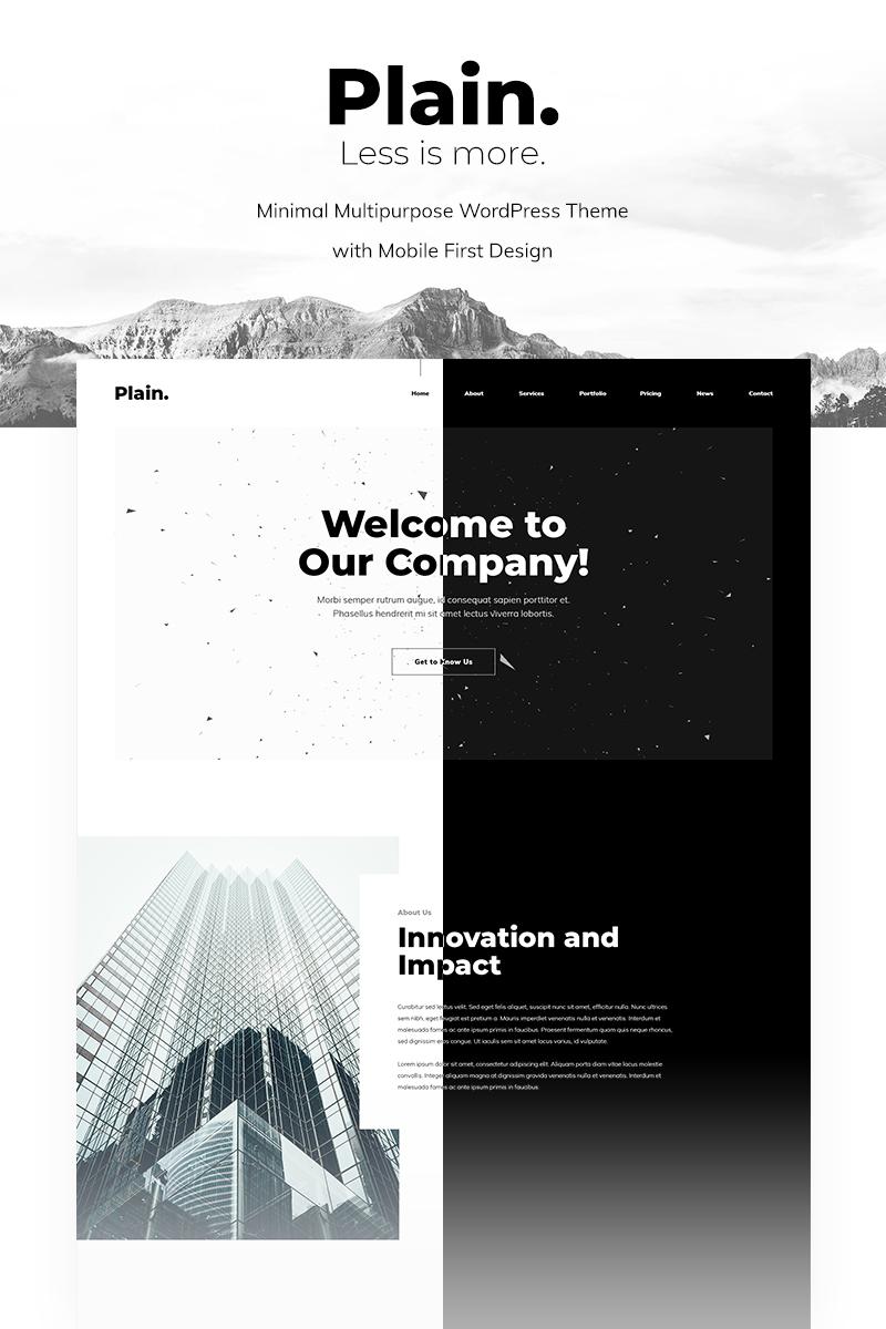 Plain - Minimal Multipurpose Tema WordPress №96813
