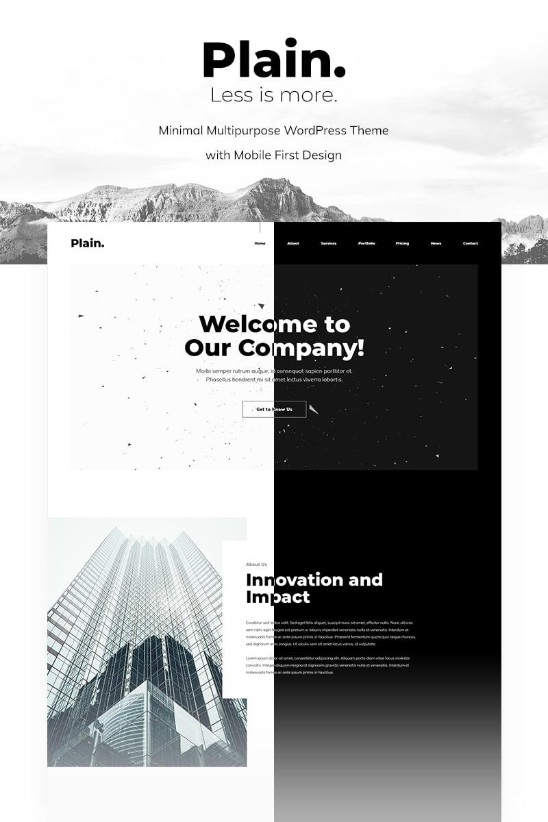 Plain - Minimal Multipurpose WordPress Theme - screenshot