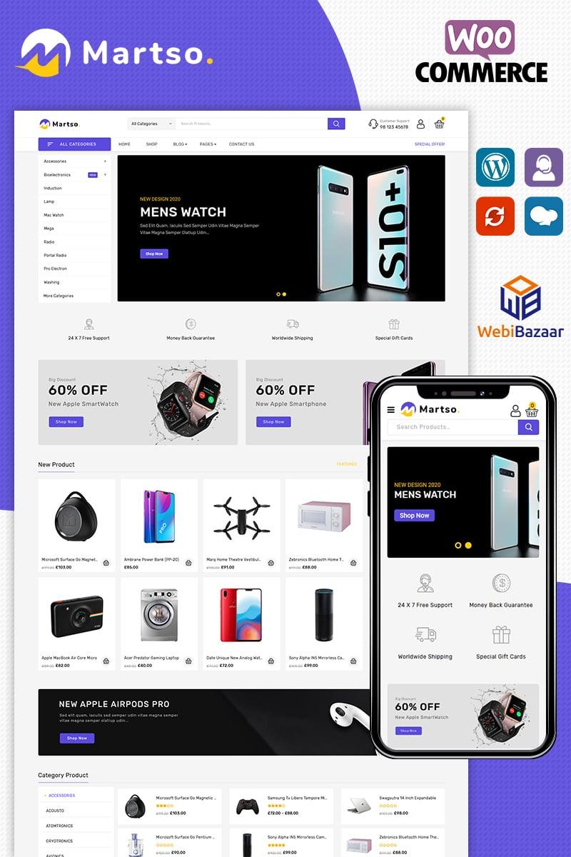Responsivt Martso - Electronics Premium WooCommerce-tema #96816
