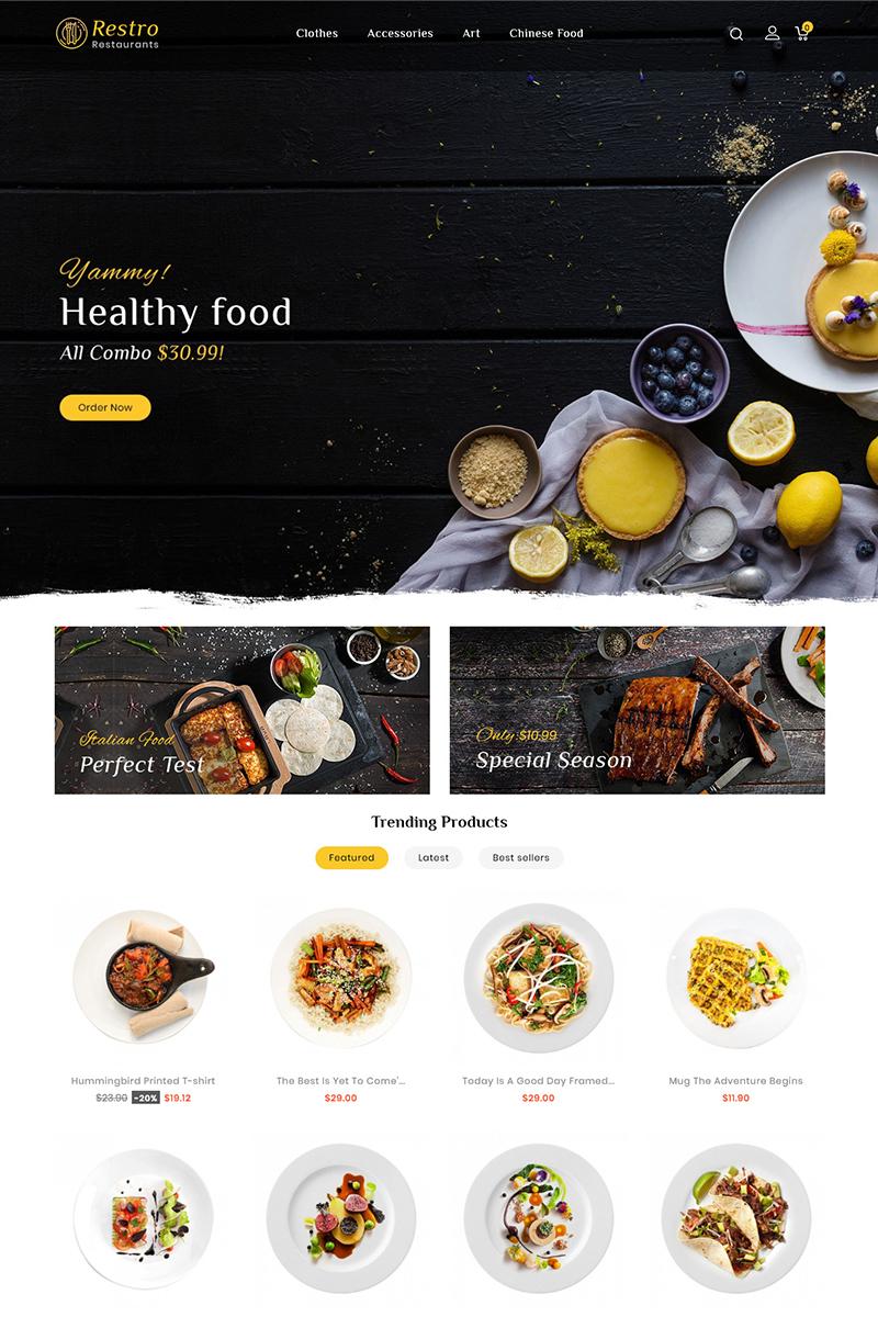 Responsivt Restro Restaurant Responsive PrestaShop-tema #96817