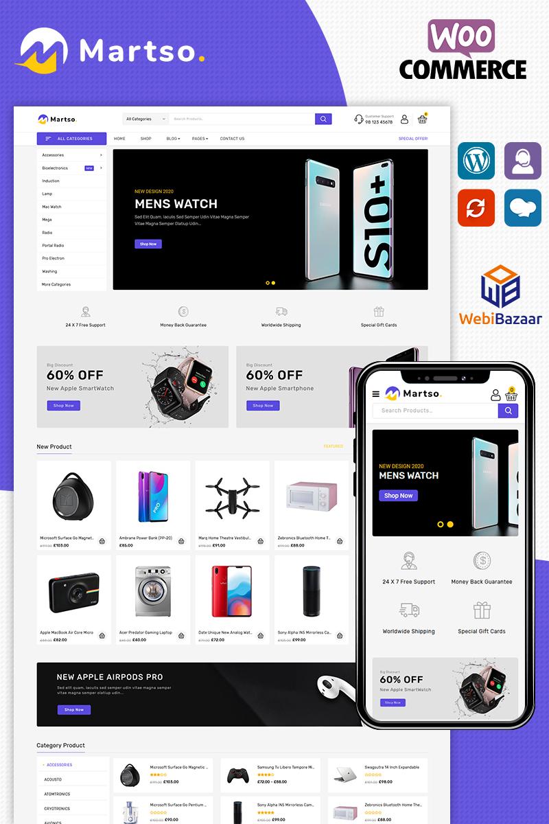 Responsywny motyw WooCommerce Martso - Electronics Premium #96816