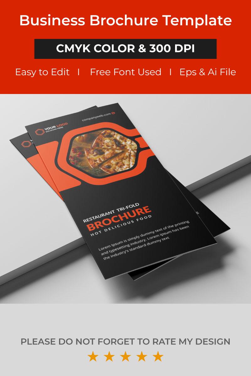 Restaurant tri fold brochure Márkastílus sablon 96834