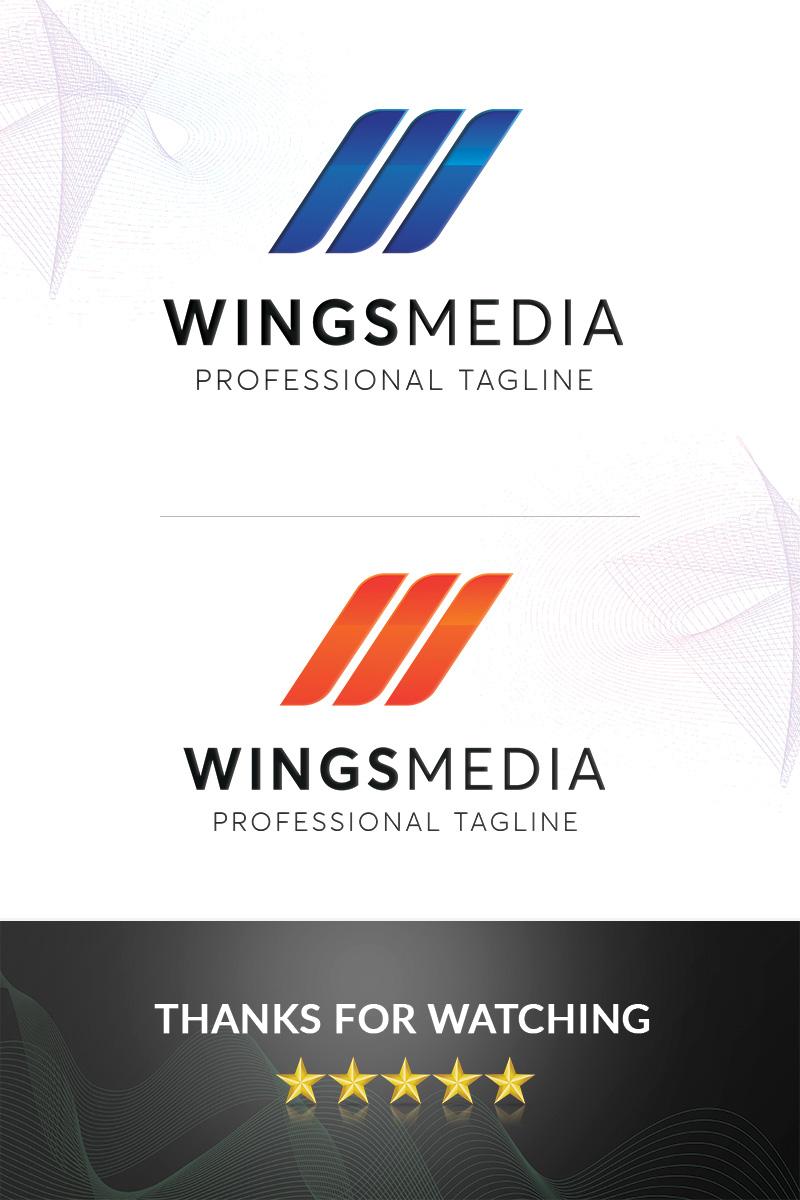 """Wingsmedia"" Premium Logo template №96866"