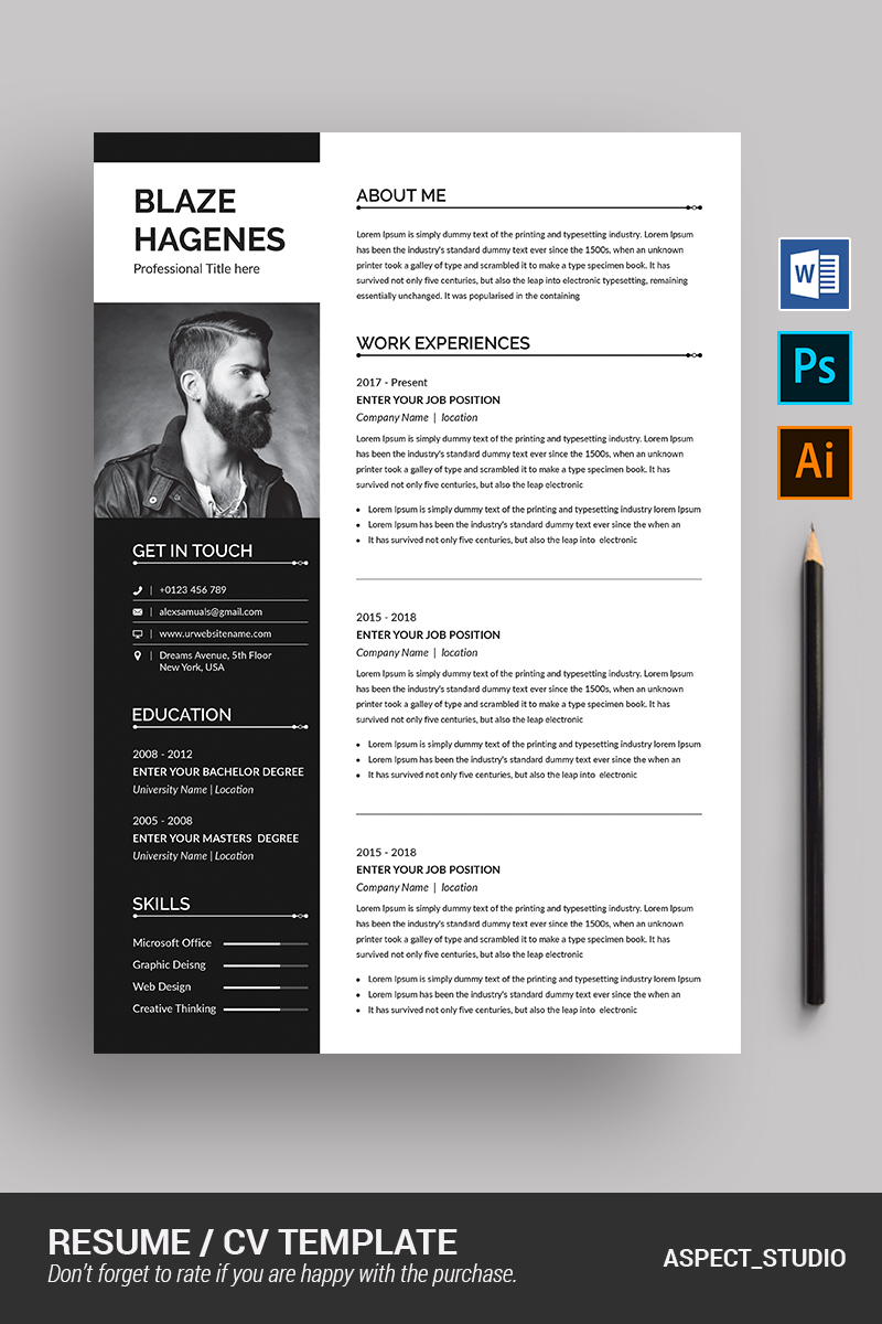 Blaze Hagenes Resume Template