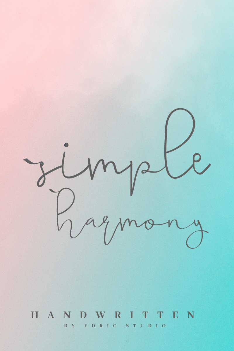 "Font ""Simple Harmony"" #96954"