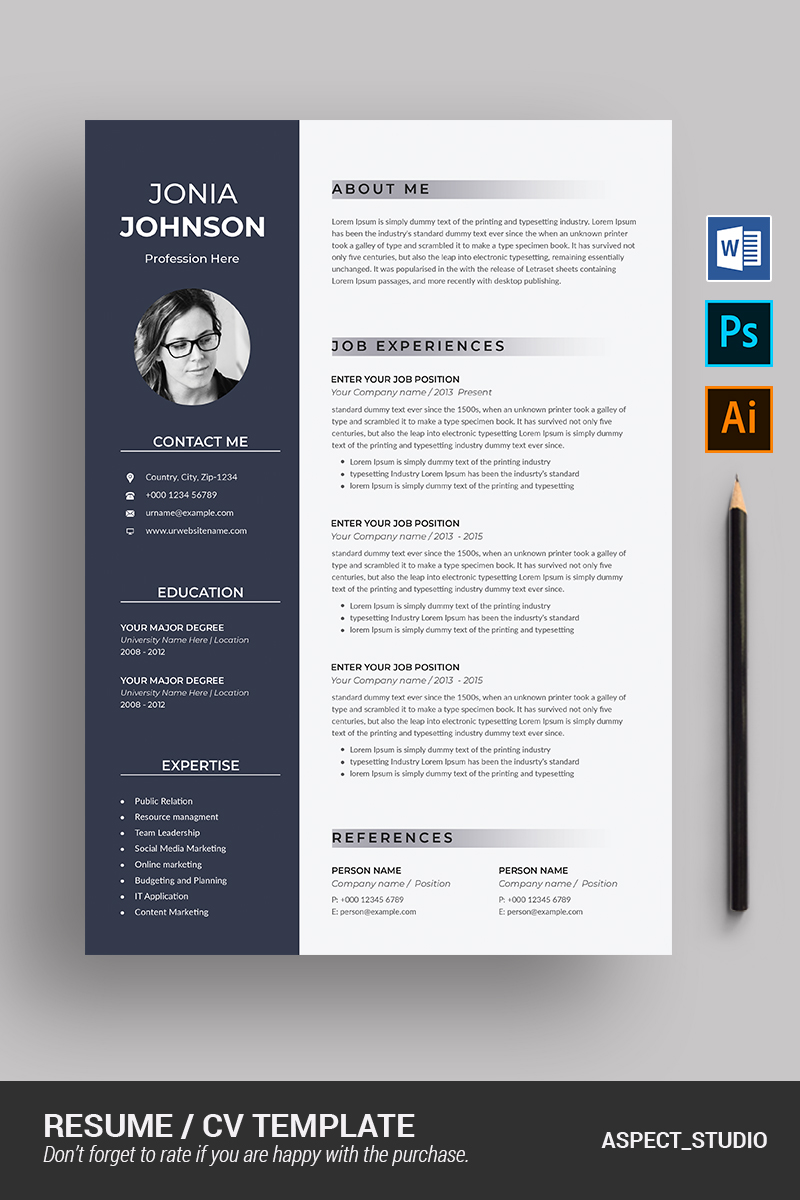 Jonia Johnson Resume Template