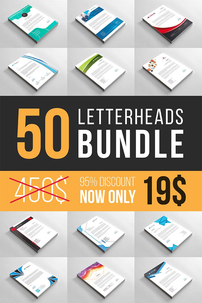 Letterheads Bundle Corporate Identity Template