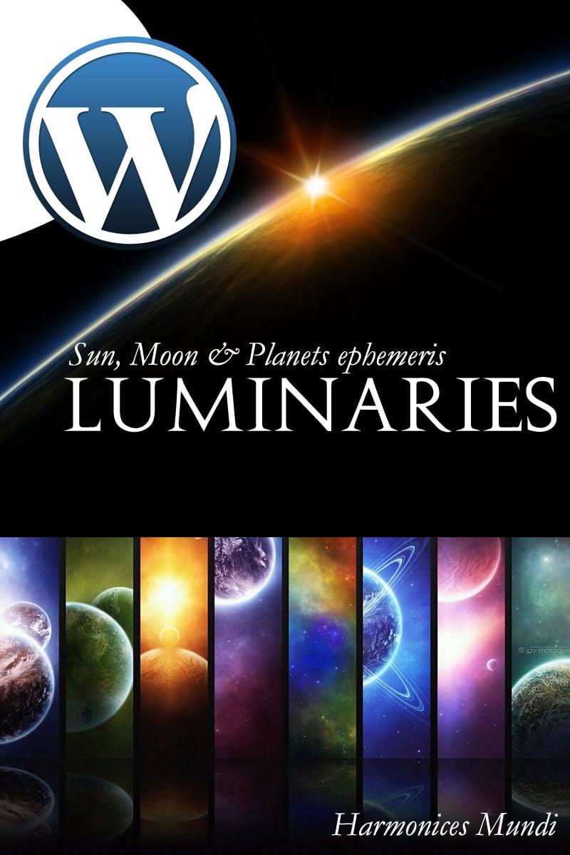 Luminaires - Astro Widget WordPress Plugin - screenshot