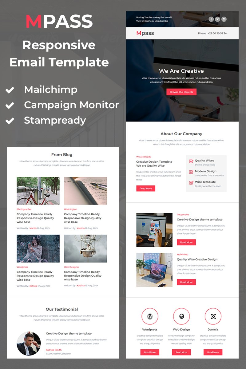 Mpass - Responsive Newsletter Template