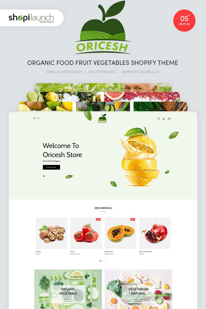 Oricesh - Organic Food Fruit Vegetables Shopify Theme
