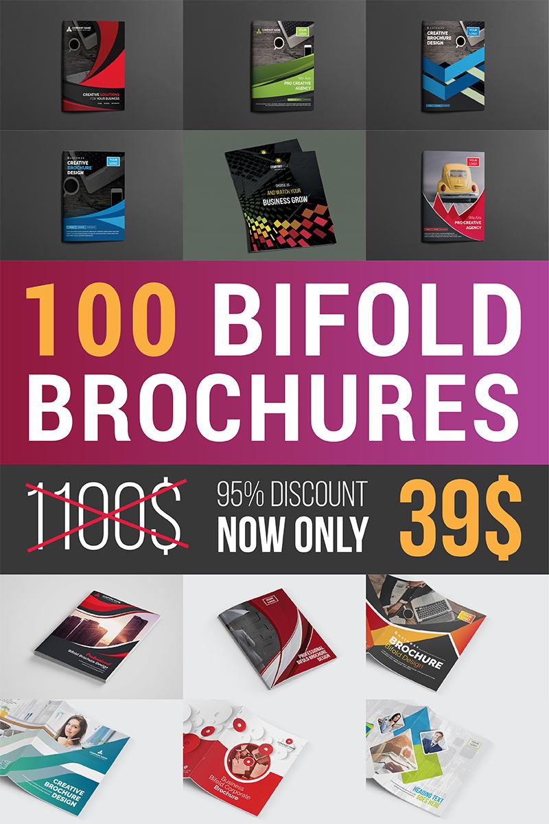 "Plantilla De Identidad Corporativa ""Ultimate Bifold Brochure Bundle"" #96959"