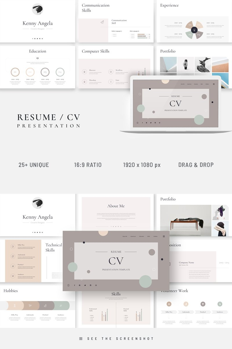 Resume CV Presentation Keynote Template